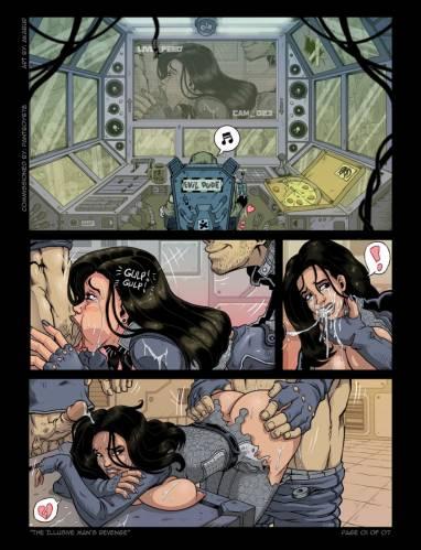 Порно рисунки с персонажами компьютерной игры Масс Эффект - инопланетянки-л